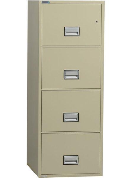 4-Drawer Vertical Filing Cabinet by Phoenix Safe International