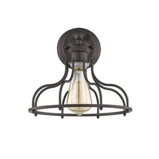 Bargain Gingrich Industrial 1-Light LED Armed Sconce By Williston Forge