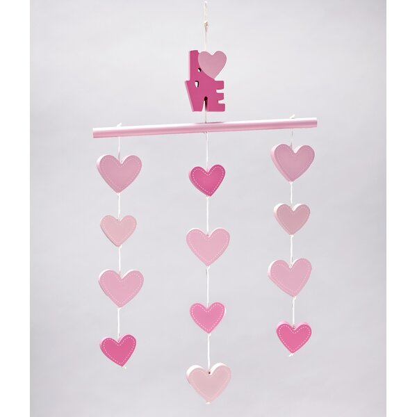 Little Love Separates Heart Ceiling Mobile by Little Love by Nojo