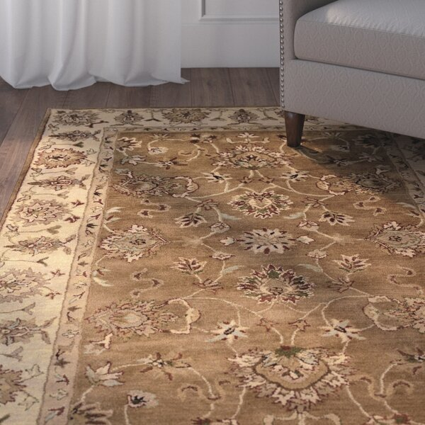 Gattis Hand-Tufted Wool Brown/Beige Area Rug by Charlton Home