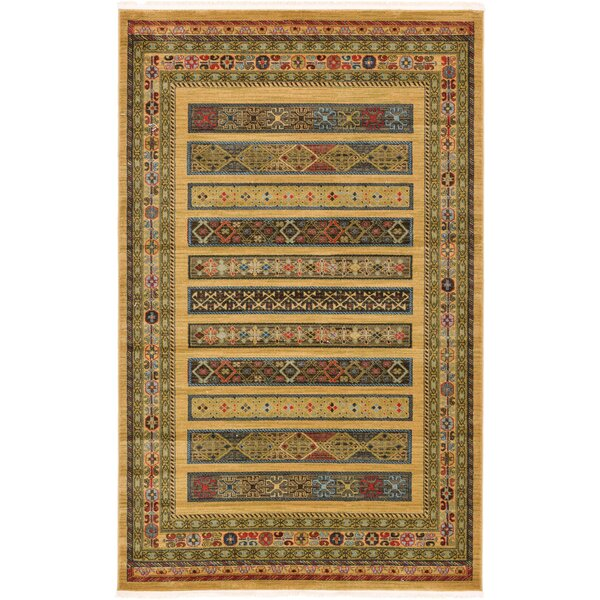 Foret Noire Tan Area Rug by World Menagerie