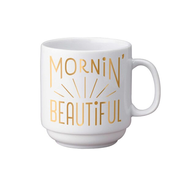 Hildebrand Morning Beautiful Foil Stackable Coffee Mug by Easy, Tiger