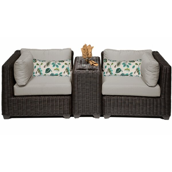 Fairfield 3 Piece Sectional Seating Group with Cushions by Sol 72 Outdoor