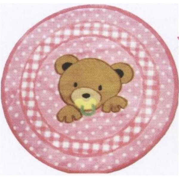 Supreme Teddy Center Pink Bear Area Rug by Fun Rugs