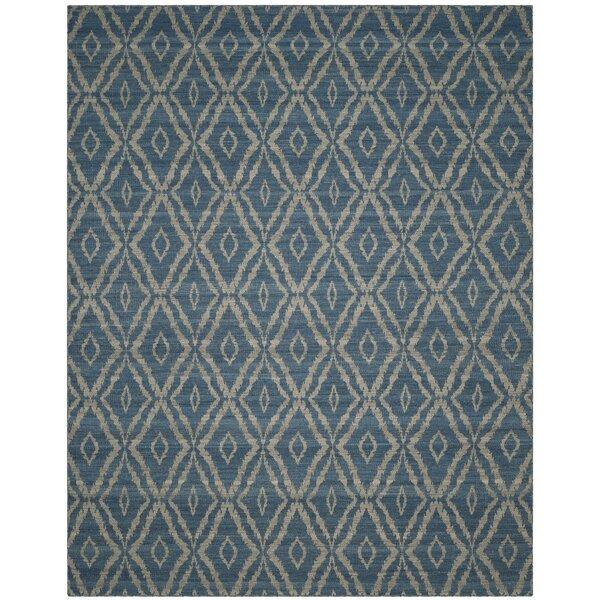 Amerina Hand-Woven Blue/Gray Area Rug by Latitude Run