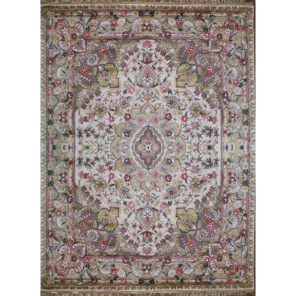 Classic Elegant Tabriz Antique Ivory Area Rug by American Home Rug Co.