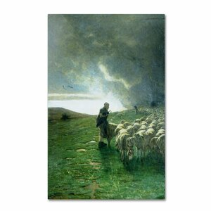'After Storm' by Giovanni Segantini Painting Print on Canvas by Trademark Fine Art