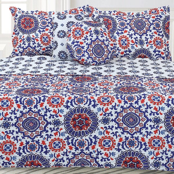 Robin Damask Quilt Set by Winston Porter