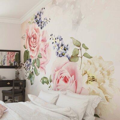 floral wallpaper. Black Bedroom Furniture Sets. Home Design Ideas