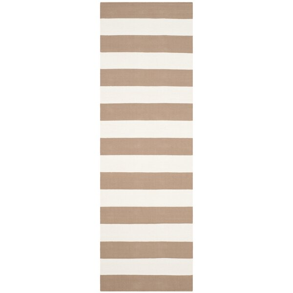 Sky Hand-Woven Sand/Ivory Area Rug by Breakwater Bay
