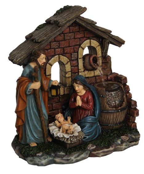 Resin Nativity Scene Tabletop Fountain Figurine by Hi-Line Gift Ltd.