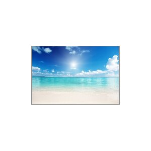 'Clear Ocean' Framed Photographic Print on Wrapped Canvas by Latitude Run