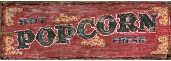 Popcorn Vintage Advertisement Plaque by Winston Porter