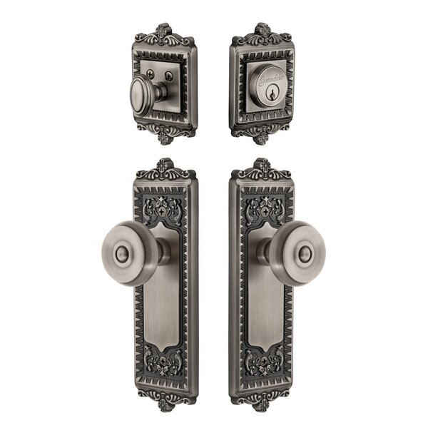 Windsor Single Cylinder Knob Combo Pack by Grandeur