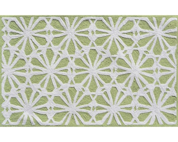 Hand-Hooked Green Area Rug by The Conestoga Trading Co.