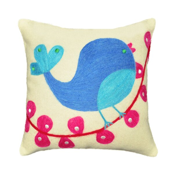 Tweety Bird Wool Felt Throw Pillow by Amity Home