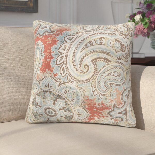 Lebaron Paisley Indoor/Outdoor Throw Pillow (Set of 2) by Three Posts