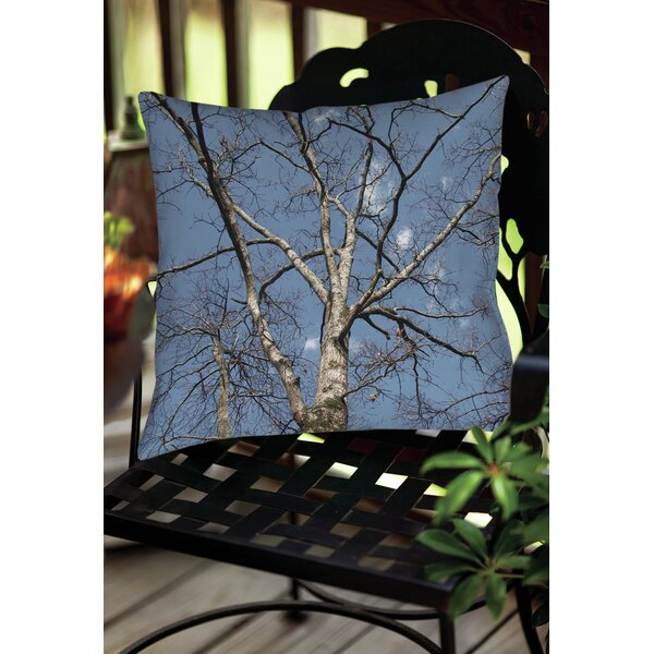 Reach for the Sky Indoor/Outdoor Throw Pillow by Manual Woodworkers & Weavers