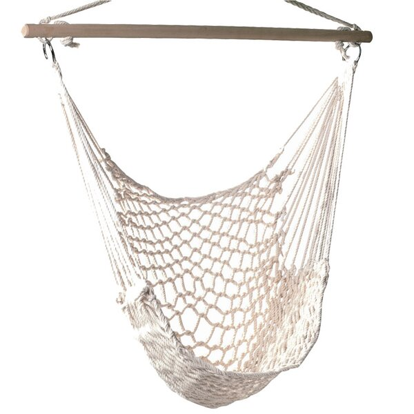 Parker Woven Cotton Chair Hammock by Beachcrest Ho