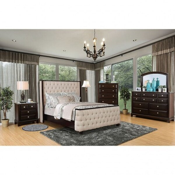 Henshaw Queen Platform Solid Wood 4 Piece Bedroom Set (Set of 4) by Winston Porter