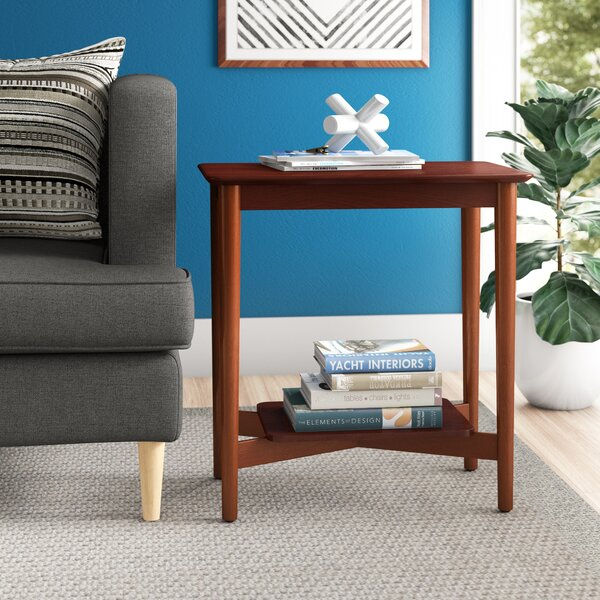 Ali Mid Century Chairside End Table With Storage By Zipcode Design