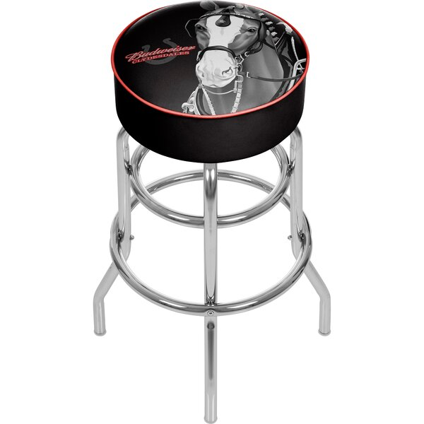 Budweiser Clydesdale 31 Swivel Bar Stool by Trademark Global