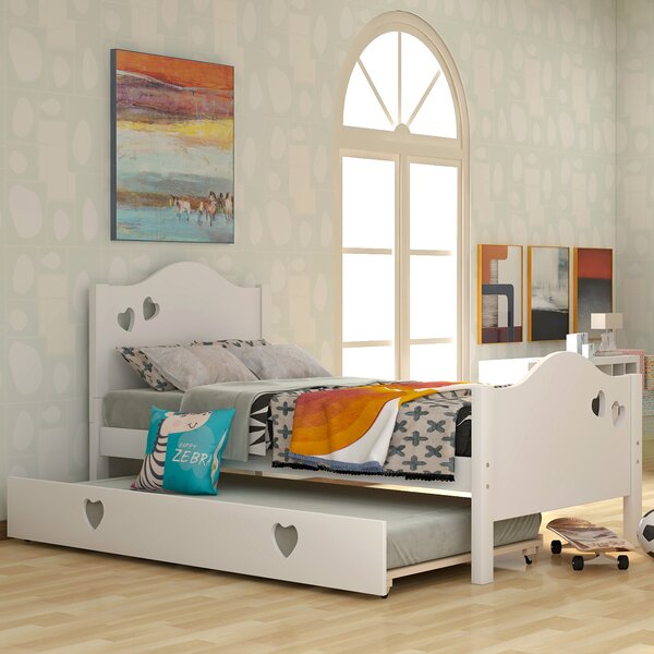 Nayeli Twin Platform Bed with Trundle by Harriet Bee