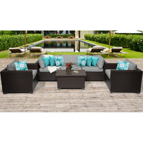 Medley 6 Piece Sofa Seating Group with Cushions by Rosecliff Heights