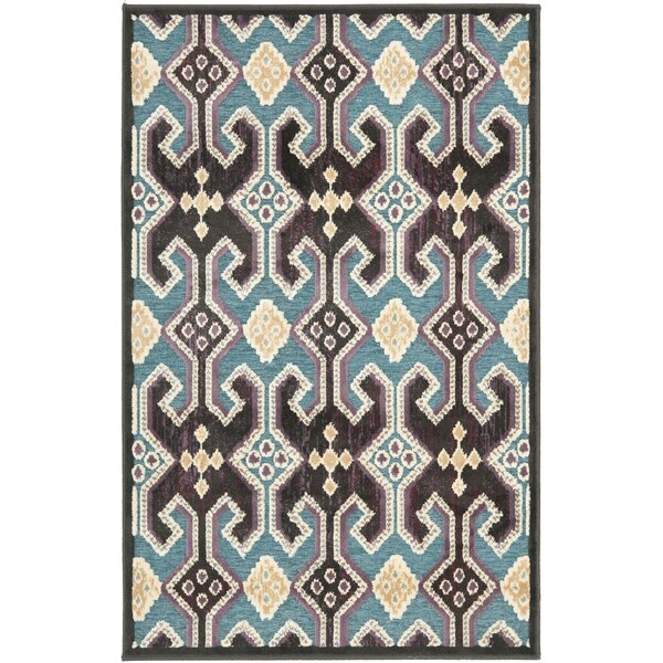 Saint-Michel Anthracite/Petrol Area Rug by Bungalow Rose