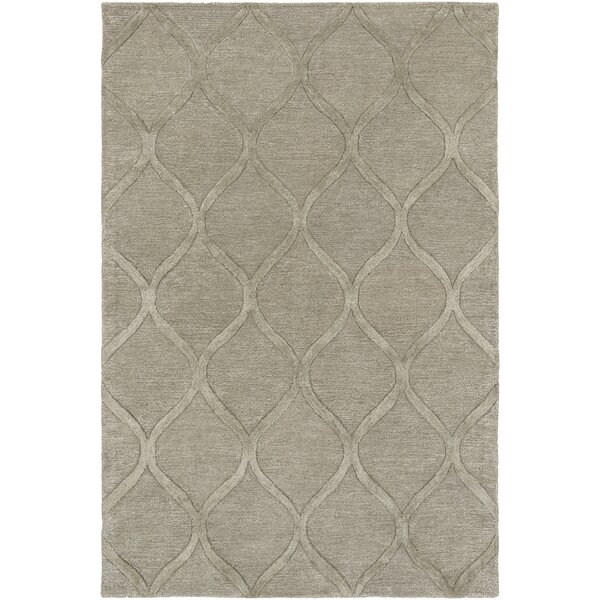Bronaugh Hand-Tufted Wool Taupe Area Rug by Greyleigh