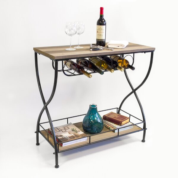 Savarese Rustic Industrial Bar Cart by Gracie Oaks Gracie Oaks