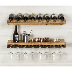 Wenonah 2 Piece 8 Bottle Wall Mounted Wine Rack Set by Loon Peak