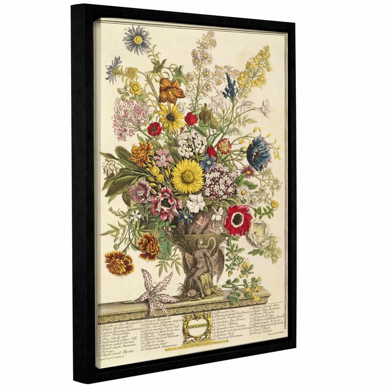 Three Posts November From Twelve Months Of Flowers Framed Graphic