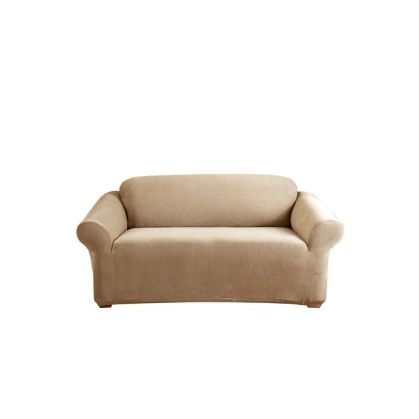 Stretch Pearson Box Cushion Loveseat Slipcover by Sure Fit