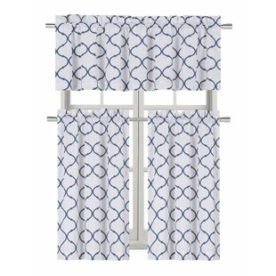 Aqua Kitchen Curtains | Wayfair