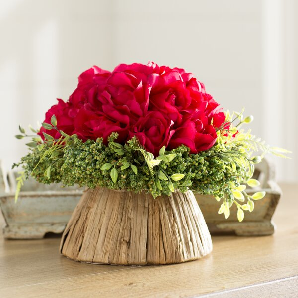 Rose Centerpiece in Planter by Red Vanilla