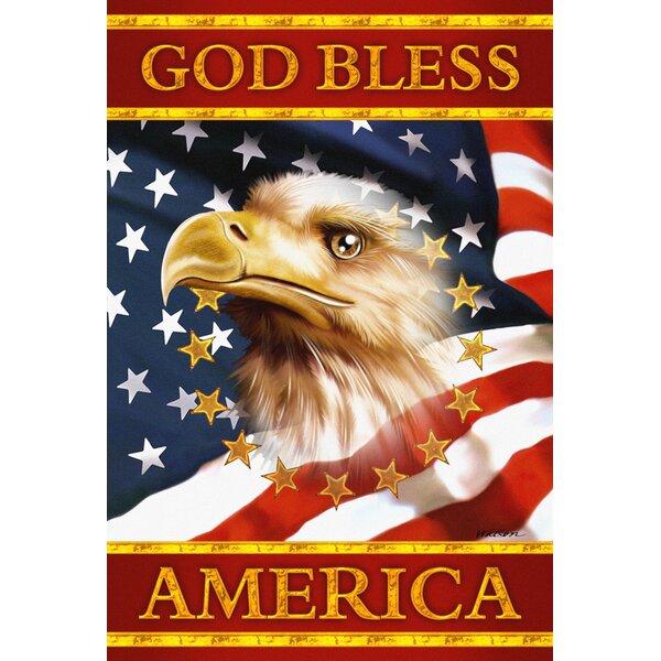 God Bless America Garden flag by Toland Home Garden