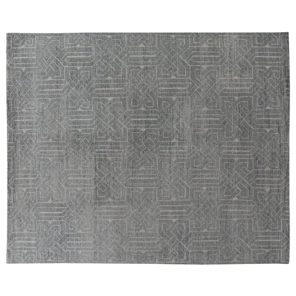 Prague Hand-Knotted Gray Area Rug by Exquisite Rugs