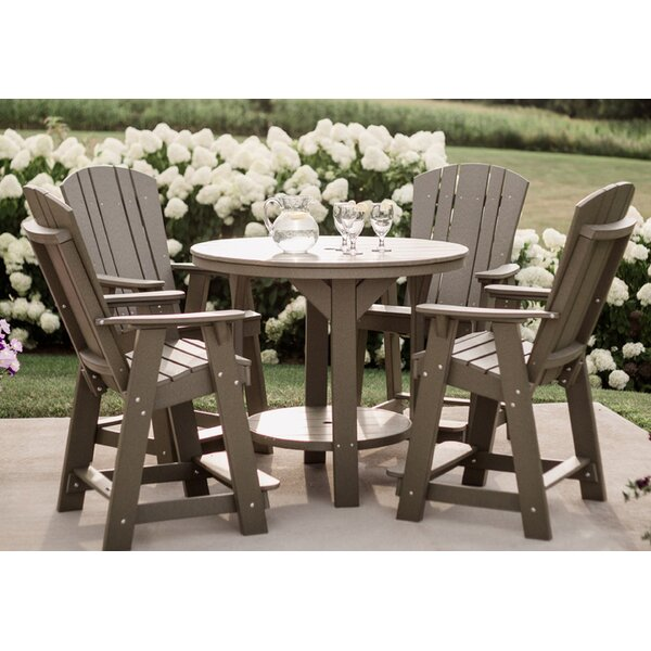 Patricia Traditional 5 Piece Dining Set by Rosecliff Heights