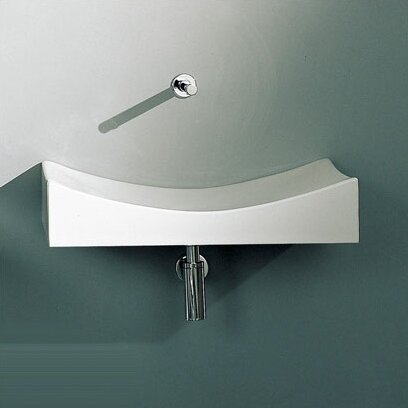 Tsunami Ceramic 36 Wall Mount Bathroom Sink by Scarabeo by Nameeks