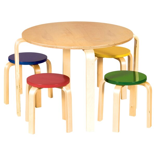 Anrey Kids 5 Piece Table & Stool Set by Viv + Rae