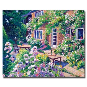 English Courtyard by David Lloyd Glover Painting Print on Wrapped Canvas by Trademark Fine Art