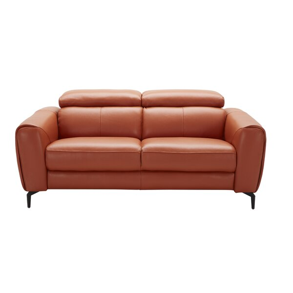 Search Sale Prices Camptown Leather Loveseat by Orren Ellis by Orren Ellis
