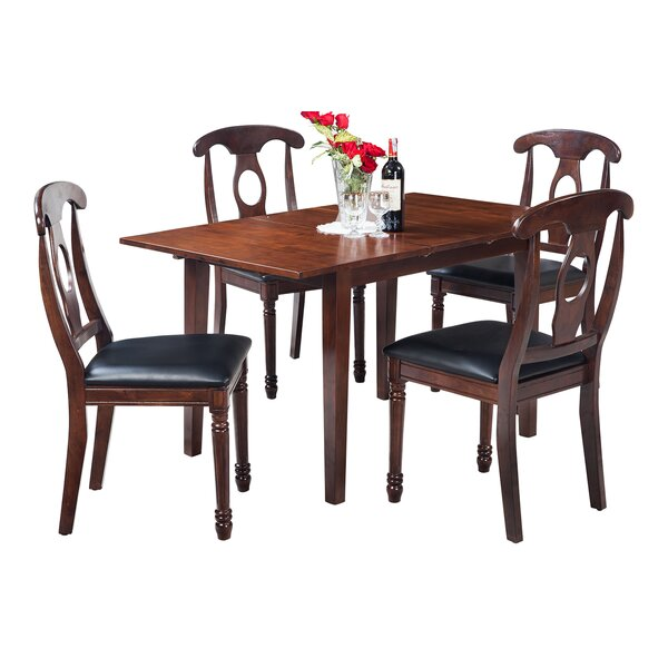 Assante 5 Piece Solid Wood Dining Set by Alcott Hill