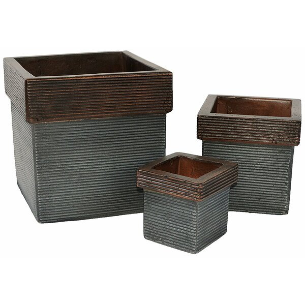Claravale 3-Piece Concrete Planter Box Set by Brayden Studio