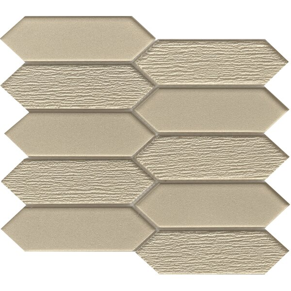 Picket 2 x 4 Glass Mosaic Tile in Brown by Emser Tile