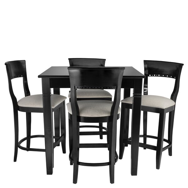 Weishaar 5 Piece Pub Table Set by Red Barrel Studio Red Barrel Studio