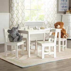 rickey kids 5 piece table u0026 chair set - Wayfair Dining Chairs