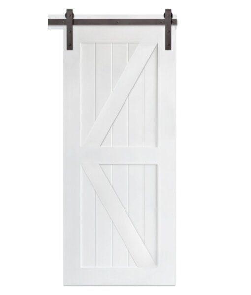 Classic Brace MDF Sliding Panel Wood Slab Interior Barn Door by Artisan Hardware