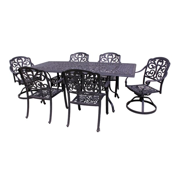 Thurston 7 Piece Dining Set by Fleur De Lis Living